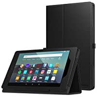 MoKo Case Fits Kindle Fire 7 Tablet (9th Generation, 2019 Release), Premium PU Leather...