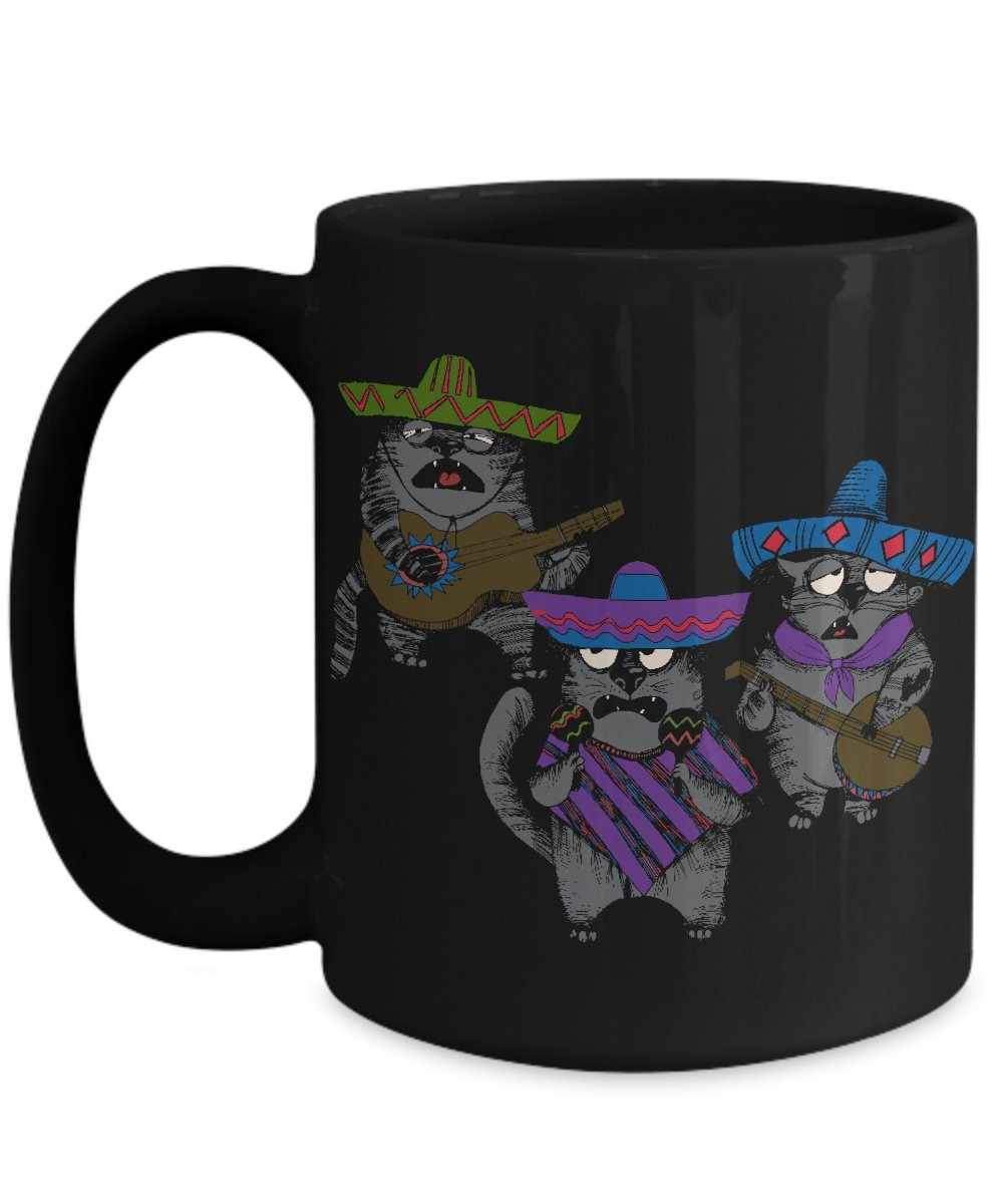 Amazon.com: Funny Mariachi Cat Coffee Mug ; Taza de cafe chistosa de gato: Kitchen & Dining