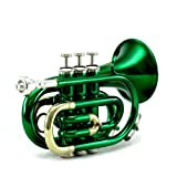 Sky Band Approved Brass Bb Pocket Trumpet with