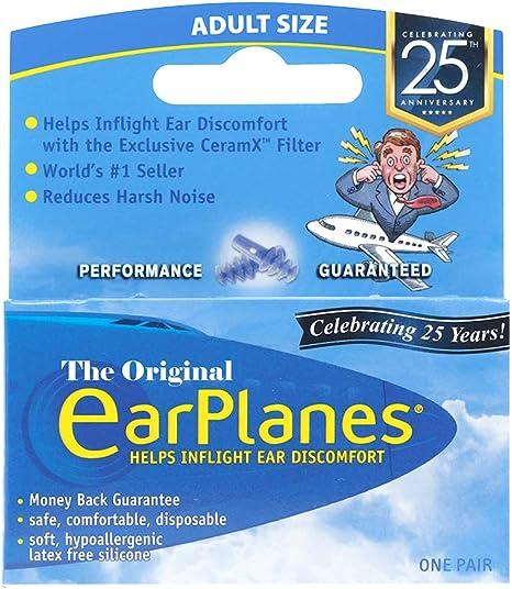 2pk Earplanes for kids /& Smaller  Ear Plugs For Airplane Flight reusable