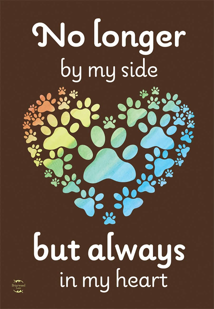 "Briarwood Lane Pet Memorial Pawprints Garden Flag Cat Dog Bereavement 12.5""x18"""