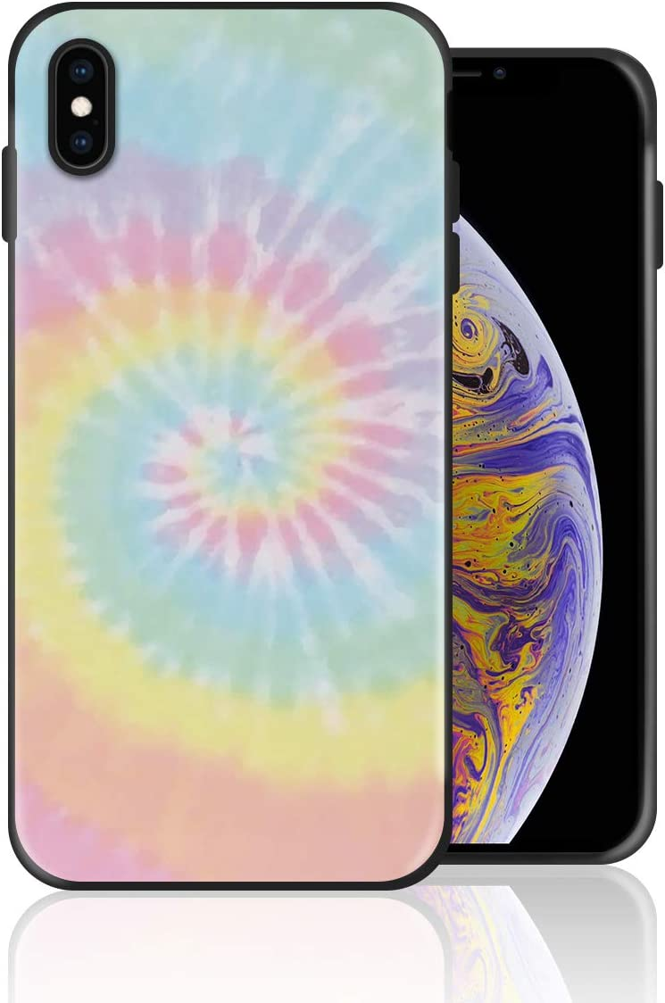 Silicone Case for iPhone 8 and iPhone 7, Pastel Tie Dye Design Printed Phone Case Full Body Protection Shockproof Anti-Scratch Drop Protection Cover