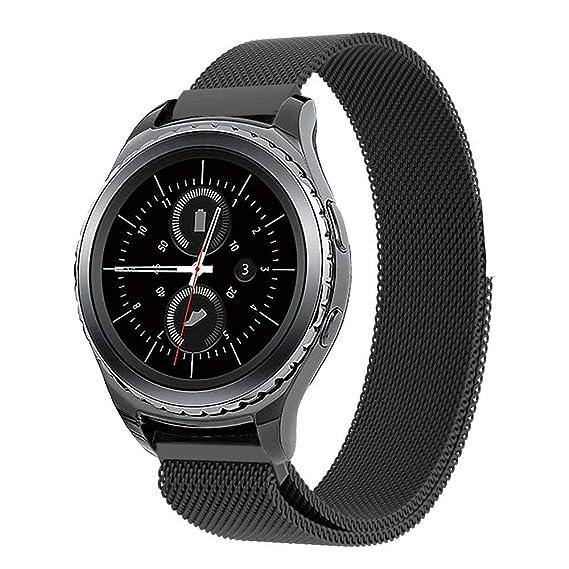 Cbin Smartwatch Samsung Gear S2 Classic/Gear Sport Band, Stainless Steel Mesh Closure Replacement Band for Samsung Gear Sport SM-R600 & Gear S2 ...
