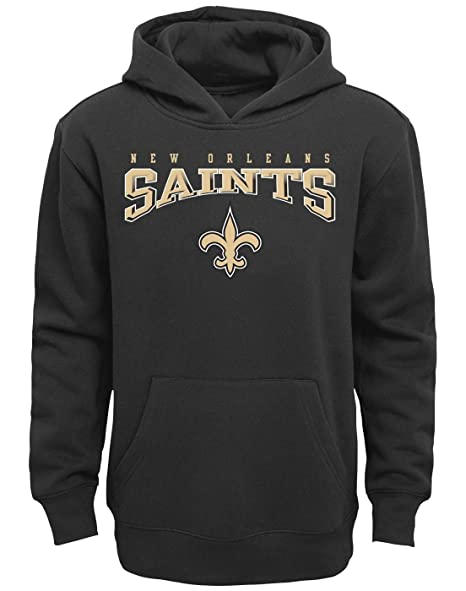 4ced70d68 Image Unavailable. Image not available for. Color  Outerstuff New Orleans  Saints Youth NFL Fadeout Pullover Hooded Sweatshirt