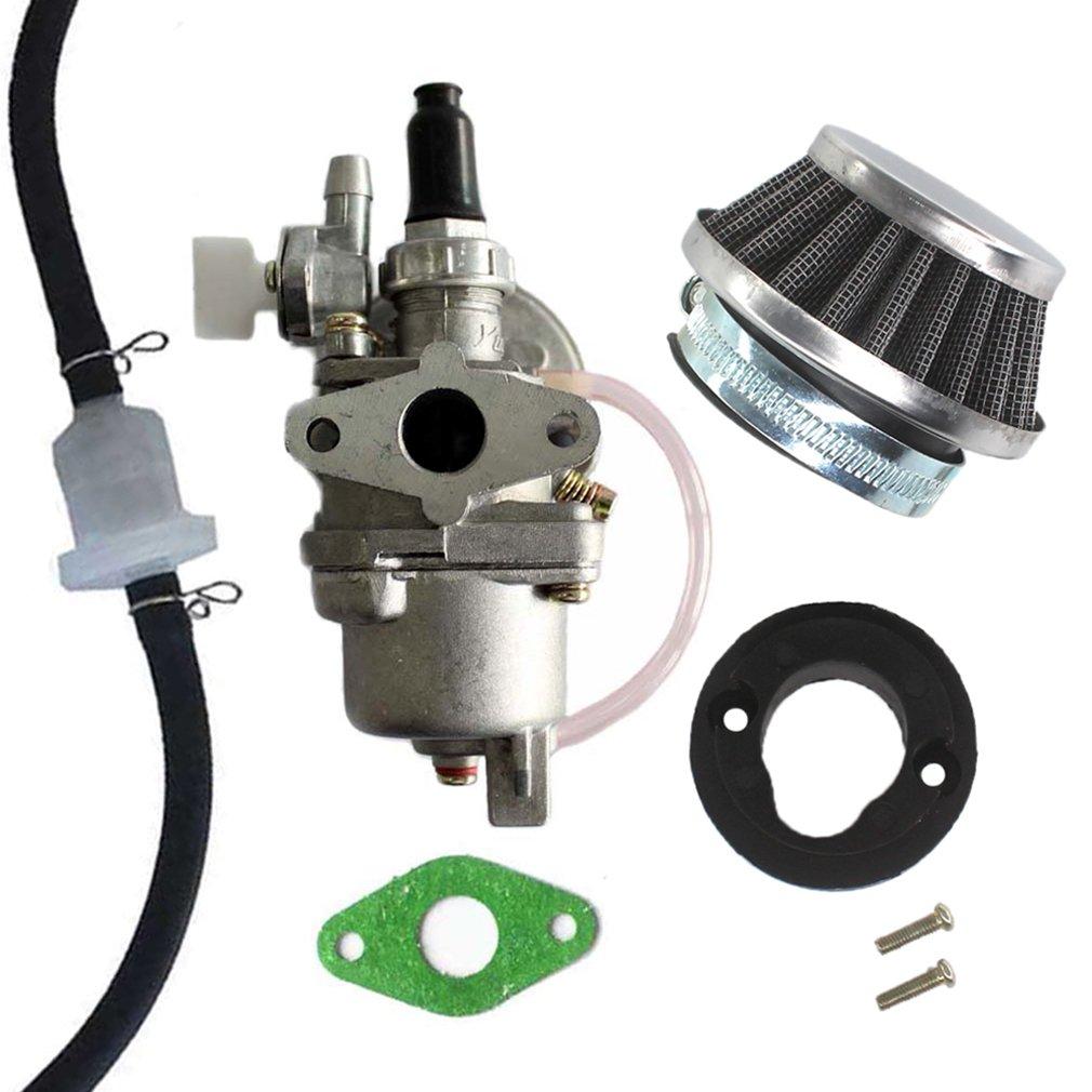 Aisen Carburettor Fuel Air Filter For 47cc 49cc 2 Stroke Engine Carb Carburetor Pocket Dirt Bike Mini Moto Quad Racing Kids ATV