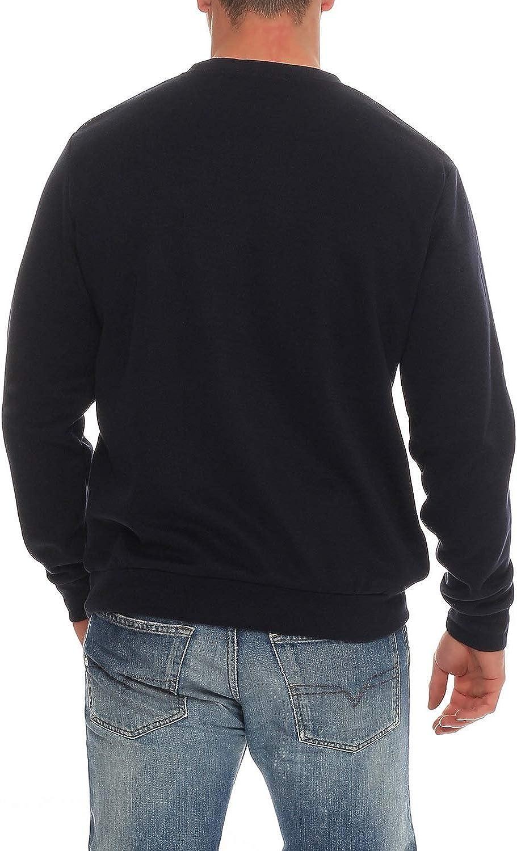 Benter Felpa in Cotone da Uomo Maglioni Invernale Pullover Girocollo Stampa in Rilievo vestibilit/à Regolare