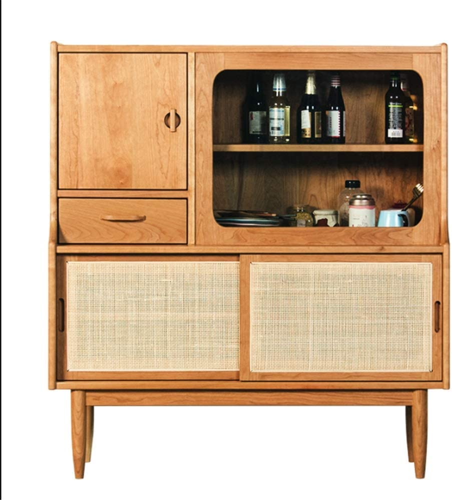 GEQWE Sideboard Buffet Table Buffet Sideboard with Sliding Door Dining Room Entrance Cabinet Storage Cabinet Buffet Entryway Cabinet Storage Sideboard Console Sideboard Table
