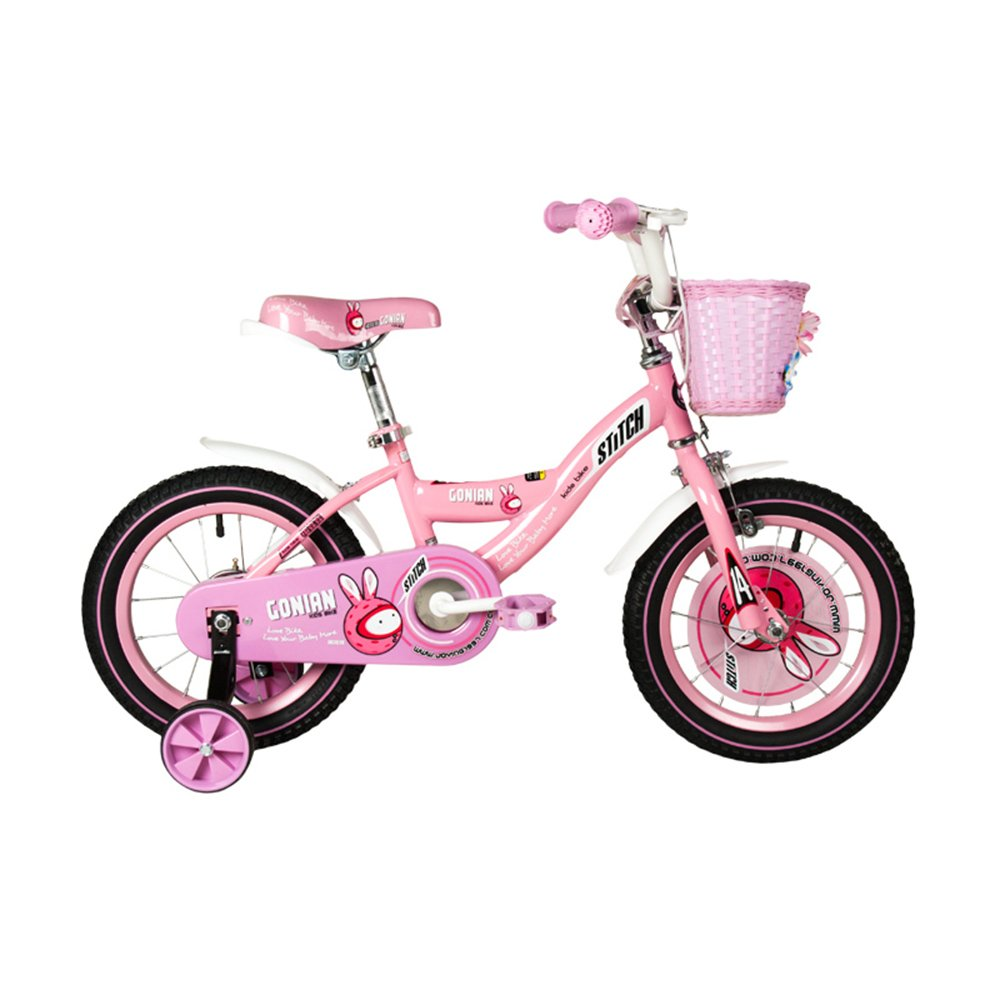 HAIZHEN マウンテンバイク 子供用自転車 トレーニングホイール付きの少年の自転車と少女の自転車 12インチ、14インチ、16インチ、18インチ 子供用ギフト 新生児 B07C6V9NXN 18 inch