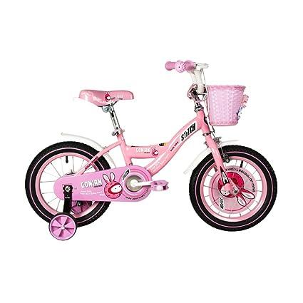 Bicicletas YANFEI Niños Niño Niña con Rueda De Entrenamiento 12 Pulgadas, 14 Pulgadas, 16