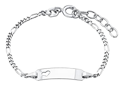 Amor Kinder-Armband ID Identarmband längenverstellbar gravierbar Mädchen  Herz 925 Sterling Silber 12 + 2 cm  Amazon.de  Schmuck fd338ec273