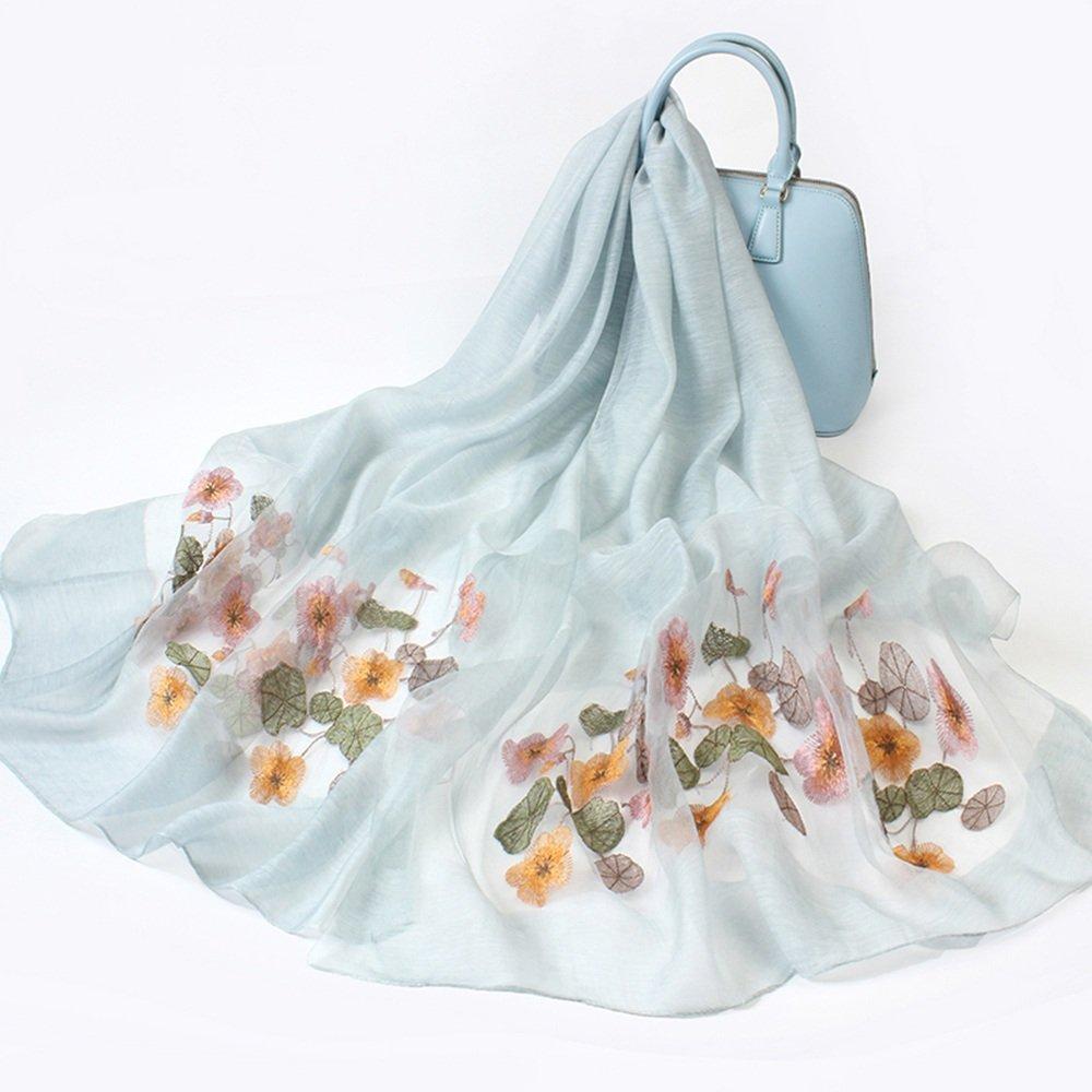 MEIDUO Bufandas y Chales Bufandas de seda femeninas bufandas bordadas chales Otoño y seda de inviern...