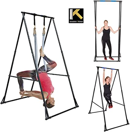 KT Aerial Yoga Stand Frame Indoor Outdoor KT1.1518. Max Height 92.5. Foldable, Portable, Height Adjustable, Stable and Durable Yoga Swing Stand ...