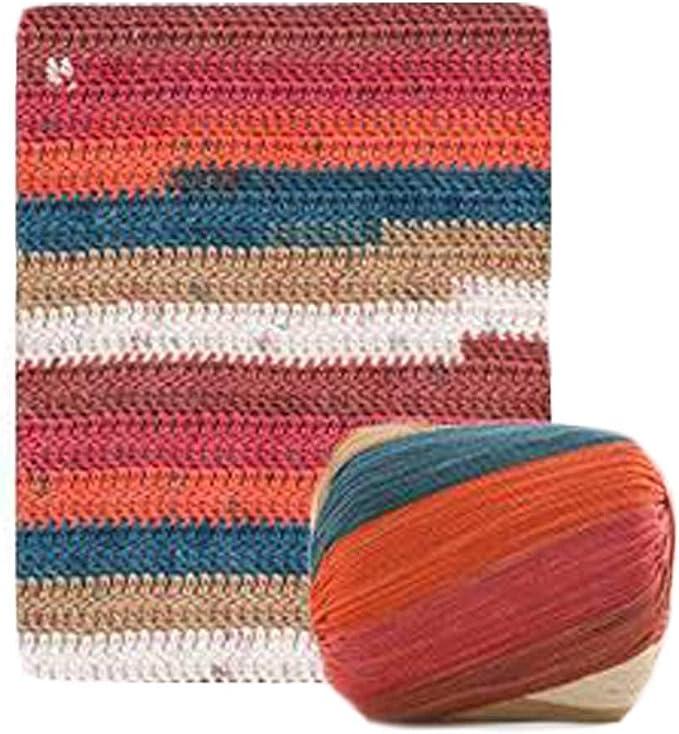 Pigeon Fleet 2 madejas Hilo de algodón Hilo de Ganchillo para Tejer a Mano alfombras Cesta, otoño: Amazon.es: Hogar