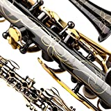 NEW STYLE~ METAL CLARINET `Glory B Flat METAL CLARINET ,Black Nickel Flowers Design, Click to see more colors