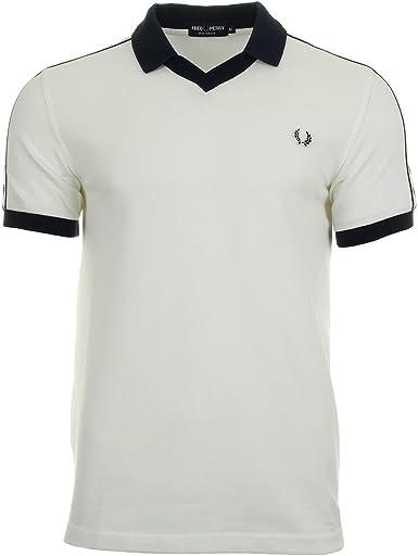 Fred Perry Taped Pique Shirt Snow White, Polo - XL: Amazon.es ...