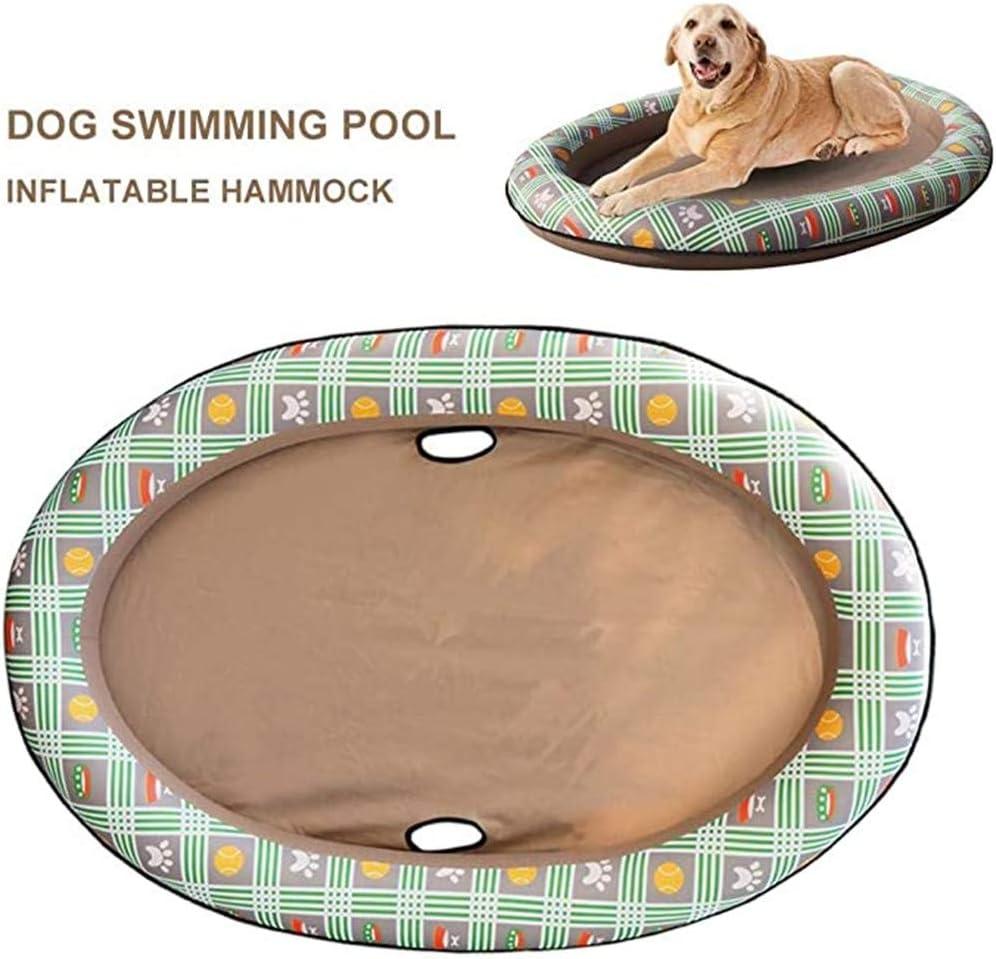 TTBD Perro Piscina Flotador para Mascotas Piscina Plegable Perro Piscina Flotante Row Bed Juguete De La Playa para El Gato del Perro, Perro Inflable Animal Doméstico Flotador Piscina Juguete