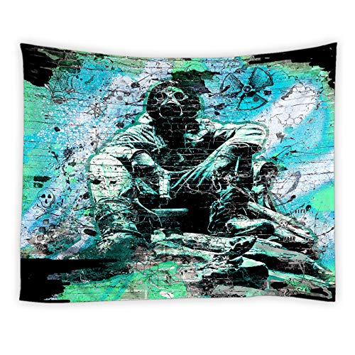 RAYLONZE Hip Hop Tapestry Graffity Wall Funky Urban Graffiti Street Wall Hanging Cool Home Decor for Living Room Bedroom Polyester Fabric Tapestries 60x51 Inch (Graffity Cool)