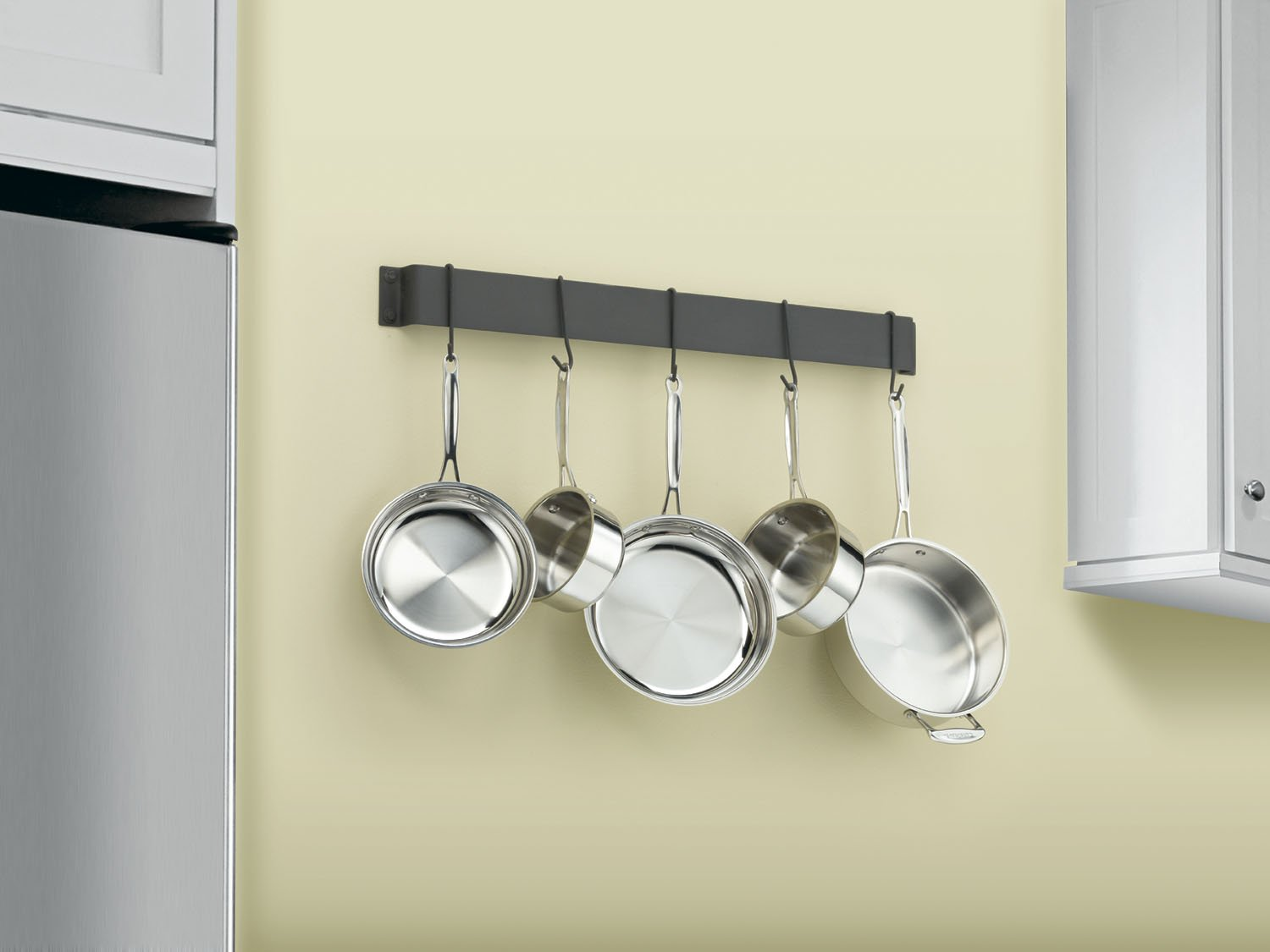 Cuisinart CRBW-33MBK Chef's Classic 33-Inch Bar-Style Wall-Mount Pot Rack, Matte Black by Cuisinart (Image #2)