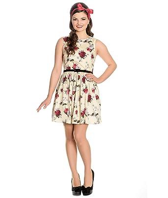 1a17b67c32e Hell Bunny Cecily Rose Floral Été Mini Robe  Amazon.fr  Vêtements et ...