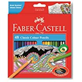 Faber-Castell Classic Color Pencils Set of 48 with Gold and Silver Colors