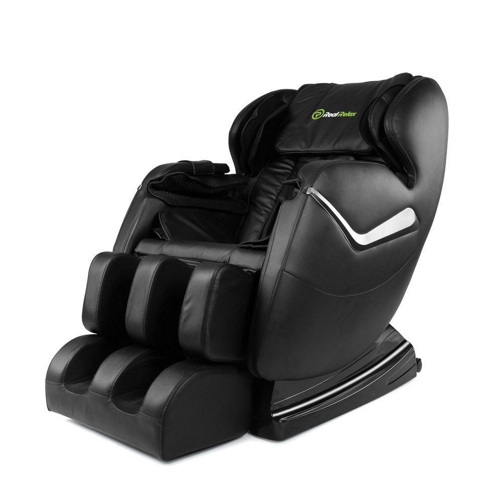 Real Relax Massage Chair Recliner - Full Body Shiatsu, Zero Gravity, Armrest linkage system,with Heater (Black) by Real Relax (Image #1)