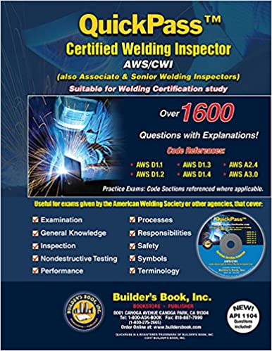 Quickpass Certified Welding Inspector Awscwi Study Guide Builders