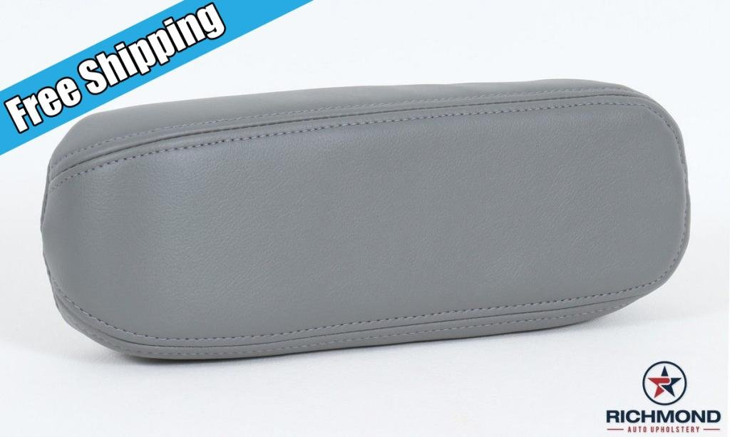 2002 Ford F-150 Lariat Club-Cab Driver Side Replacment Leather Armrest Cover, Gray