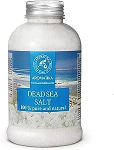 Dead Sea Salt 17.5 oz - 100% Pure and Natural - Dead Sea Salts - Best for Good Sleep - Stress Relief - Bath - Beauty - Relaxing - Bath Salts