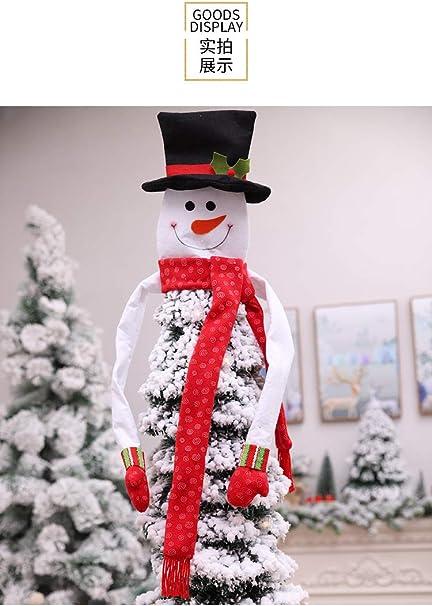 Decorazioni Natalizie 94.Firlar Puntale Per Albero Di Natale Con Pupazzo Di Neve Come Mostrato 94 100cm Amazon It Casa E Cucina