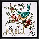 Tobin Heartfelt be Joyful Counted Cross Stitch Kit, 10 by 10-Inch, 14 Count