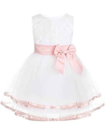 Festkleid*62 68 74 80 86 Tüll BabyKleid Hochzeit*13 Taufkleid *Mädchen Set 2Tlg