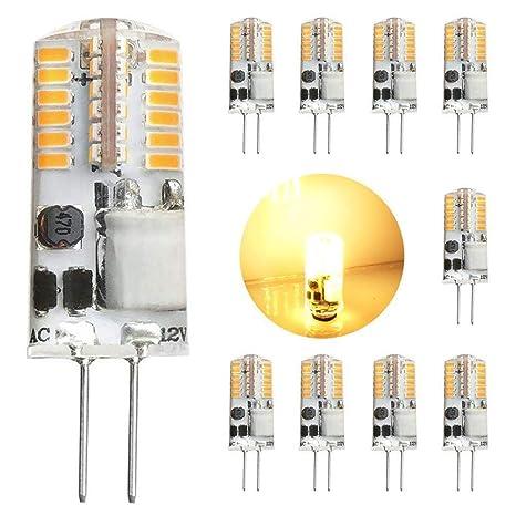 GVOREE 10 Bombillas G4 LED 12V 2.5W Equivalente a las Bombillas Halógenas de 20W,