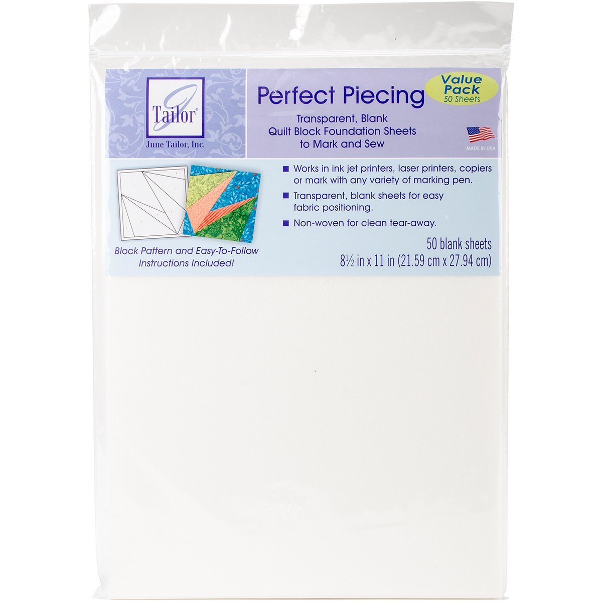 Perfect Piecing Foundation Sheets - 50 Pack