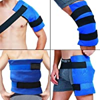 WORLD-BIO Large Gel Ice Pack & Wrap for Injuries, Hot & Cold Therapy Relief for...