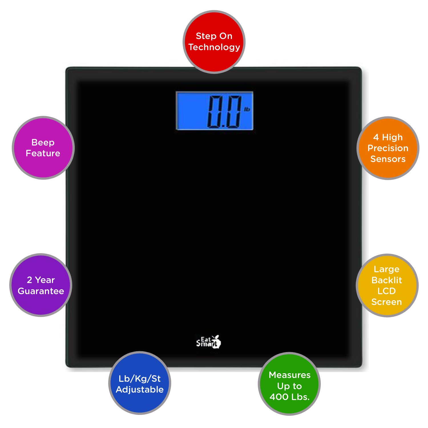 Amazon scale bathroom - Amazon Com Eatsmart Products Precision Choice Digital Bathroom Scale Health Personal Care