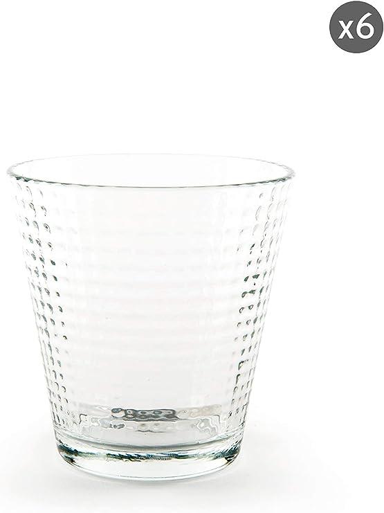 Excelsa Oslo - Juego de 6 vasos de agua, vidrio prensado: Amazon.es: Hogar