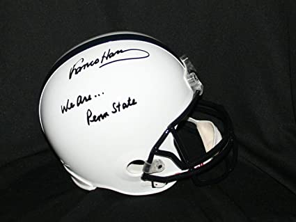93a61690f8d Image Unavailable. Image not available for. Color: Franco Harris Penn State  Helmet Autographed ...