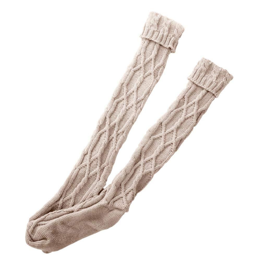 SHOBDW Mujeres Niñas Tejer Grueso Caliente Muslo Alto Sobre La Rodilla Calcetines Calcetines de Algodón Térmico Señoras Medias Largas Regalo de Día de San ...