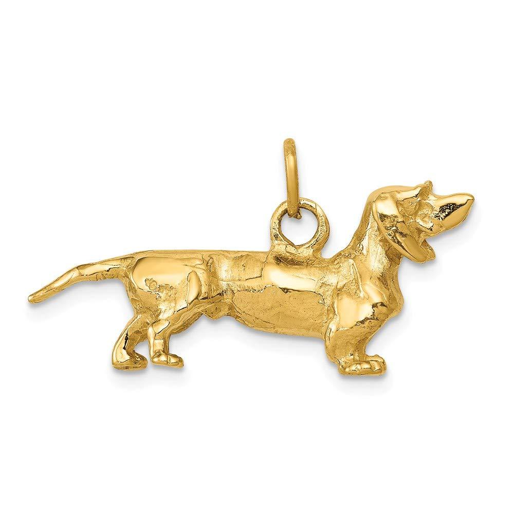 14k Dachshund Dog Charm