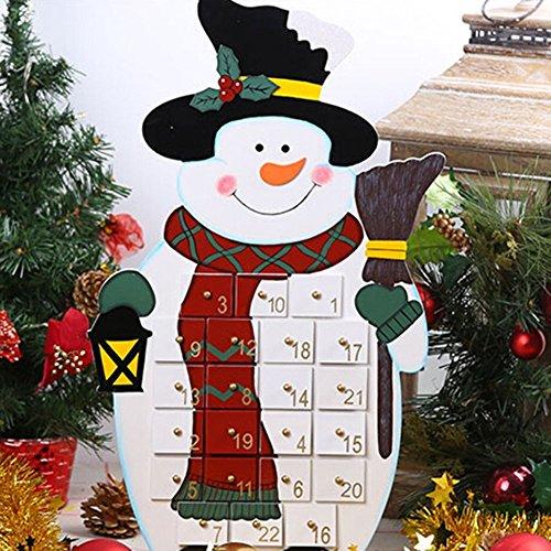 Calendario de adviento nuevo hogar Xmas Árbol de Navidad reutilizable Navidad Cuenta Regresiva Presente, a8