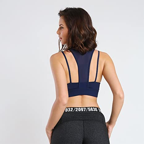 b4db794d0faf4 August Jim Women s Sports Bra Perspective Design Yoga Quick-Dry Bra at  Amazon Women s Clothing store