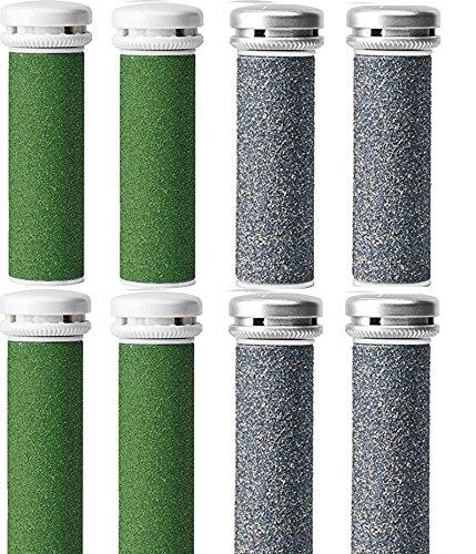 JTrim For Emjoi Micro-Pedi Refill Rollers Replacement Callus Remover (4 Xtreme Coarse 4 Super Coarse) - Pack of 8 JPT-CRRSX