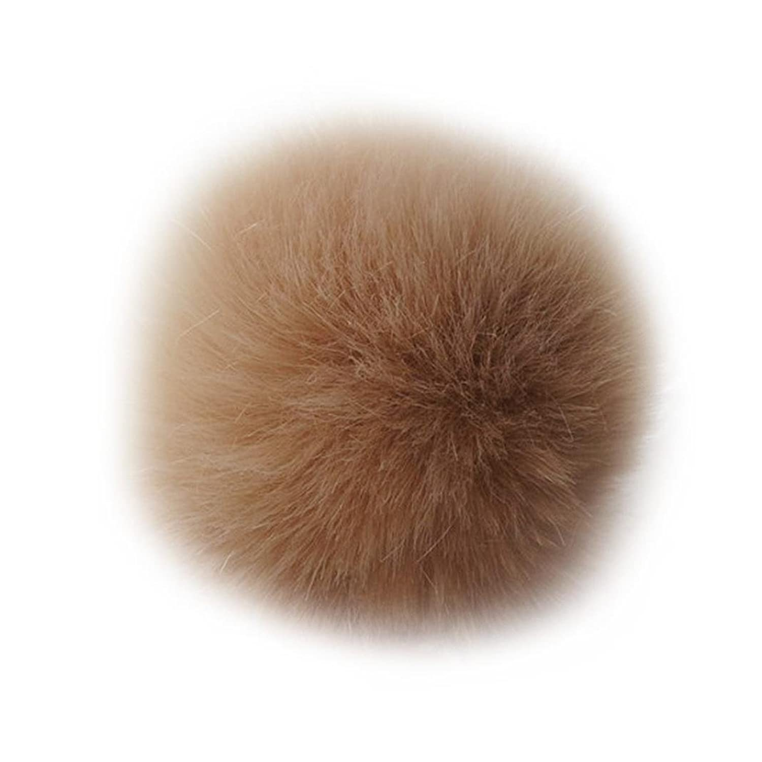 Key Chain,Baomabao Rabbit Fur Ball Key Chains Mobile Phone Plug Backpack Bags Decorations