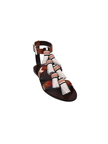 028e891b640eb Tory Burch Weaver Tassel Sandals (6.5 M US)