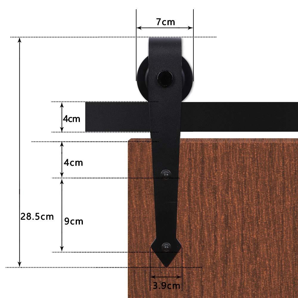 S/ólo rodillos 2PCS 2 Piezas Kit de suspensi/ón de rodillos de la puerta de granero deslizante para Puerta Corredera Kit de Accesorios sin riel