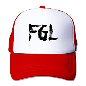 Adult Fgl Florida Georgia Line May We All Cover Adjustable Mesh Hat Trucker Baseball Cap Red