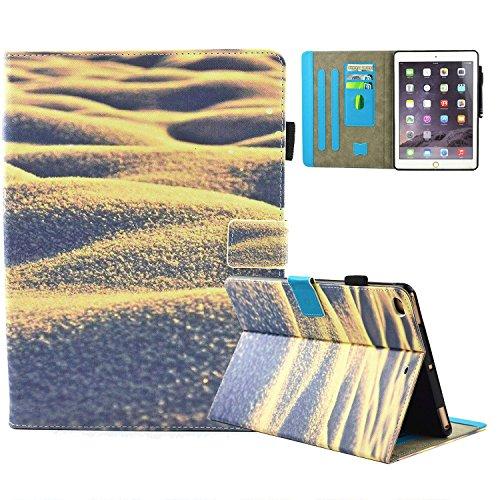 iPad Air 2 /iPad Air/iPad 9.7 inch 2017 Adventure Covers PU Leather, Folio Magnetic [Anti-Slide] Cover with Auto Sleep/Wake [Multi Viewing] for Apple iPad 9.7 2017/iPad Air 1&2 (iPad 5&6), -