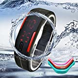 IEason,Ultra Thin Men Girl Sports Silicone Digital LED Sports Bracelet Wrist Watch (A)