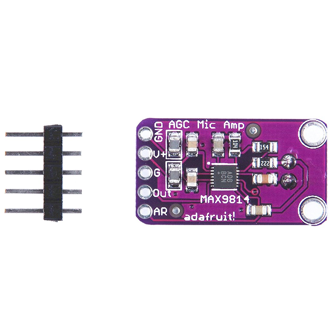 Sodial Max9814 Electret Mic Microphone Amplifier Module Amazonco Max4466 With Adjustable Gain For Arduino Electronics
