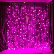 FefeLightup PINK Led Curtain Lights String Lights 9.8ft*9.8ft 304 LEDs Lights Decorating Holiday Wedding Christmas Lights